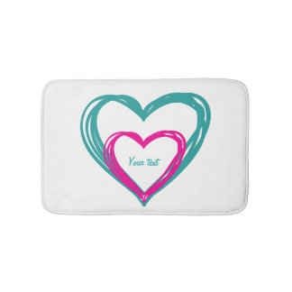 """2 Hearts"" Bath Mat"