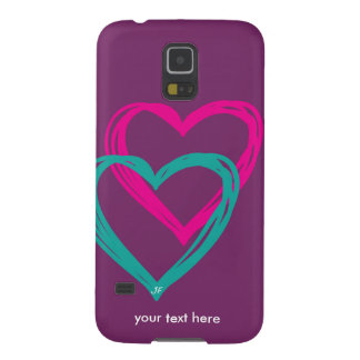 """2 hearts"" case for galaxy s5"