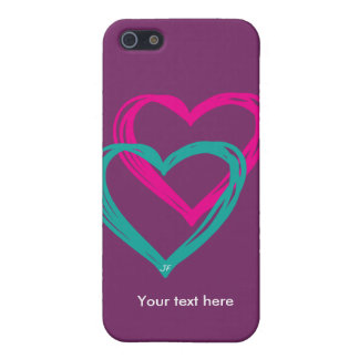 """""""2 hearts"""" case for iPhone 5/5S"""