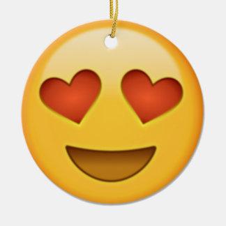 2 hearts emoji christmas ornament