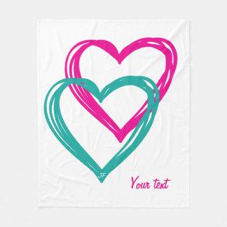 2 Hearts Fleece Blanket