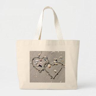 2 HEARTS, HEART TO HEART, LOTS OF LOVE JUMBO TOTE BAG