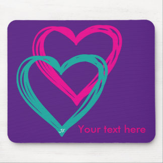 """2 hearts"" mousepad"