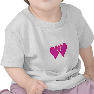 2 Hearts Together Template Tee Shirts