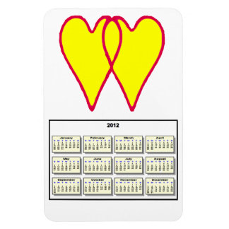 2 Hearts Together Yellow The MUSEUM Zazzle Gifts Rectangular Photo Magnet