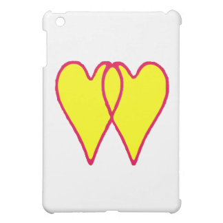 2 Hearts Together Yellow The MUSEUM Zazzle Gifts iPad Mini Covers