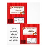 2 Hershey's Large Bar Wrapper All-Star Red Custom Flyer