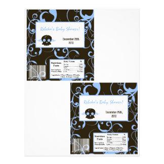 2 Hershey's Large Bar Wrapper Boy Blue Punk Skull 21.5 Cm X 28 Cm Flyer