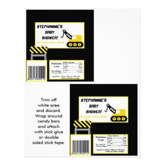 2 Hershey's Large Bar Wrapper Construction 21.5 Cm X 28 Cm Flyer
