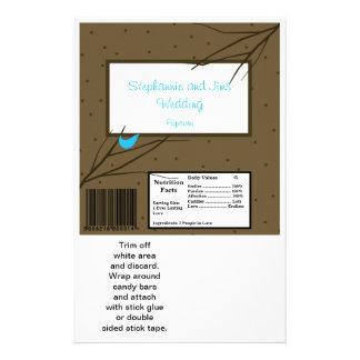 2 Hershey's Large Bar Wrapper Love Birds 14 Cm X 21.5 Cm Flyer