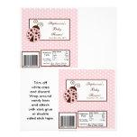 2 Hershey's Large Bar Wrapper Pink Ladybug 21.5 Cm X 28 Cm Flyer