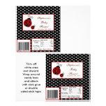 2 Hershey's Large Bar Wrapper Red Ladybug 21.5 Cm X 28 Cm Flyer