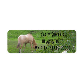 2 Horses Return Address Label