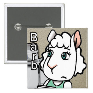 2 Inch Square Button - Barb