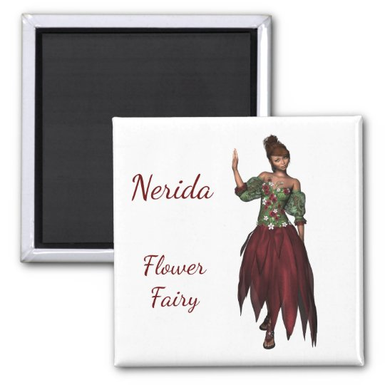 2 Inch Square Magnet; Fairy Collection: Nerida Magnet