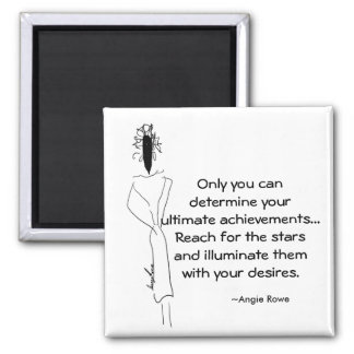 2 Inch Square Motivational Magnet