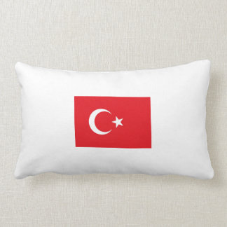 2 kissing Turkish flag. Lumbar Cushion