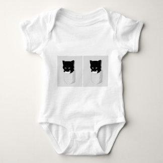 2 kitties babygrow shirts