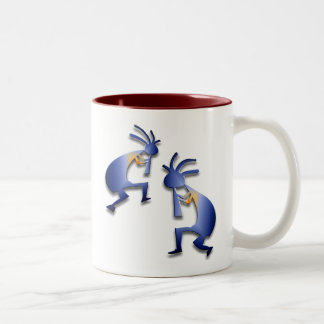 2 Kokopelli #11 Two-Tone Coffee Mug