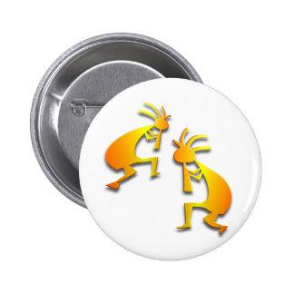 2 Kokopelli #15 6 Cm Round Badge