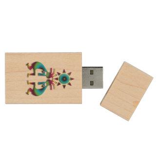 2 Kokopelli #41 Wood USB 2.0 Flash Drive