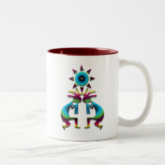2 Kokopelli #41 Two-Tone Coffee Mug