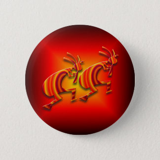2 Kokopelli #73 6 Cm Round Badge