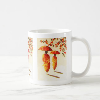 2 Laotian Buddhist Monks Coffee Mug