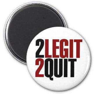 2 Legit 2 Quit Funny 80s 6 Cm Round Magnet