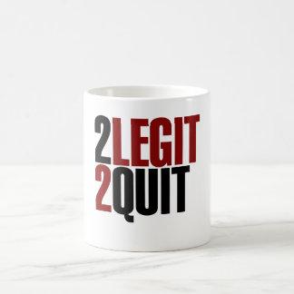 2 Legit 2 Quit Funny 80s Basic White Mug