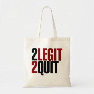 2 Legit 2 Quit Funny 80s Budget Tote Bag