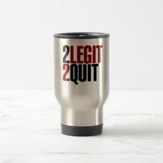 2 Legit 2 Quit Funny 80s Travel Mug