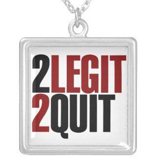 2 Legit 2 Quit Square Pendant Necklace