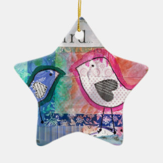 2 little birds- peter & paul ceramic star decoration