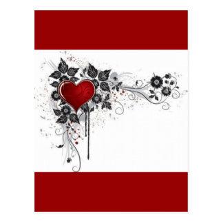 2 love vectors postcard