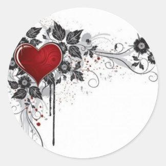 2 love vectors round sticker