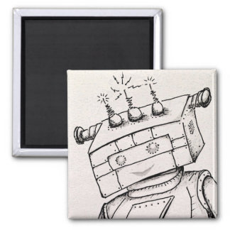 "2"" Magnet w/Robot Drawing"