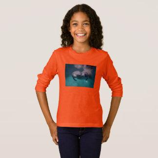 2 Manatee Friends Girls long sleeve t-shirt