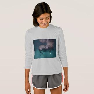 2 Manatee Friends Girls Sport Tek T-shirt