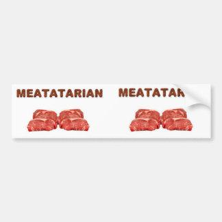 2 Meatatarian Bumper Stickers