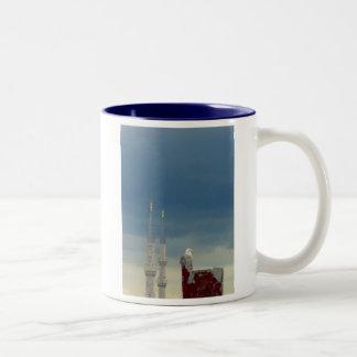 2 Minarets & Seagull Two-Tone Mug