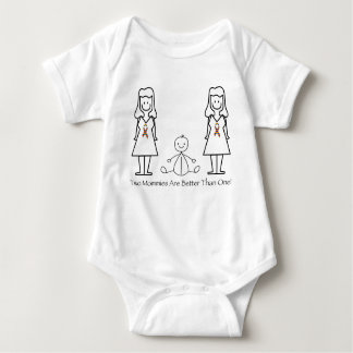 2 Moms Are Better Than 1 Baby Bodysuit