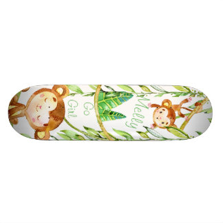2 Monkey Jungle Skating 18.1 Cm Old School Skateboard Deck