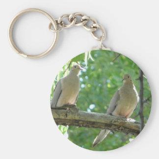 2 morning doves key ring