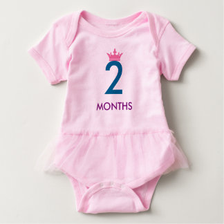 2 MOTHS BABY GIRL (add your baby name) Baby Bodysuit