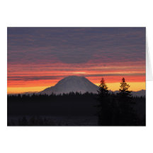 #2 Mount Rainier and it's Shadow Greeting Card
