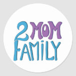 2 Mum Family Round Sticker