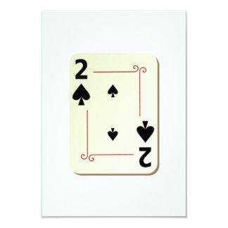 2 of Spades Playing Card 9 Cm X 13 Cm Invitation Card