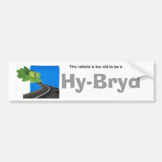 2 old hybrid Bumper Sticker