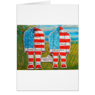 2 painted flag big foot everglade. card